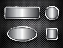 Metallic buttons Stock Photos