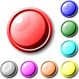 Metallic buttons Stock Photography