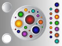 Metallic buttons set Royalty Free Stock Photo