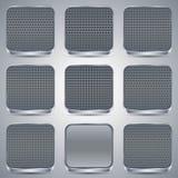 Metallic buttons set Stock Image