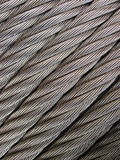 Metallic cable Royalty Free Stock Image