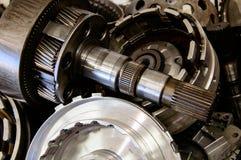 Metallic car mechanic. Close up shot metallic car mechanic  background Royalty Free Stock Images