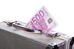 Metallic case full of Euro Stock Photography