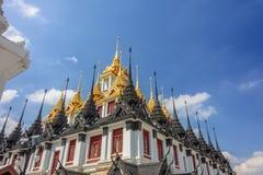 Metallic castle in bangkok Royalty Free Stock Images