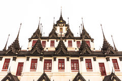 Metallic Castle in Buddhist Temple Bangkok, Thailand. Ancient Castle with Metal Roof in Buddhist Temple, Bangkok Thailand Royalty Free Stock Images