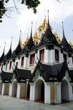 Metallic castle (Ratchanadda temple) Royalty Free Stock Image