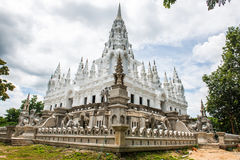 Metallic castle under construction at Aranyawas temple. Thailand stock image