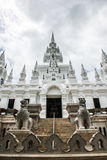 Metallic castle under construction at Aranyawas temple. Thailand royalty free stock photos