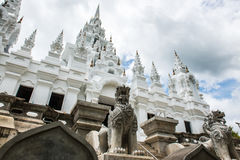 Metallic castle under construction at Aranyawas temple. Thailand royalty free stock photography