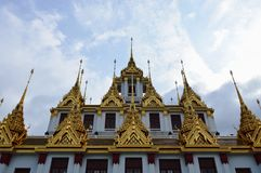 Only metallic castle in world at Ratcha Nadda temple Thailand. Only metallic castle in the world at Ratcha Nadda temple Thailand Stock Images