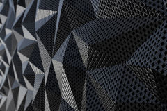 Metallic chain armor abstract geometric background. Metallic chain armor abstract geometric triangular background. 3D rendering Stock Photos