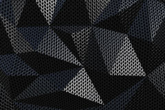 Metallic chain armor abstract geometric background. Metallic chain armor abstract geometric triangular background. 3D rendering Royalty Free Stock Image