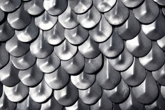 Metallic chain armour Royalty Free Stock Images