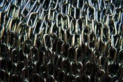 Metallic chain texture background. Macro photo Stock Image