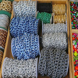 Metallic chains Royalty Free Stock Image