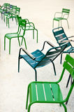 Metallic chairs Royalty Free Stock Photo