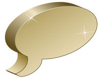 Metallic chat box. Illustration for the web Royalty Free Stock Photography