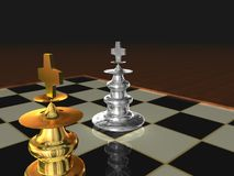 Metallic Chess kings Stock Images