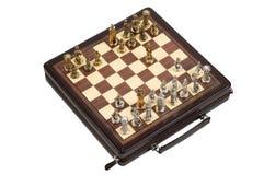 Metallic chess Stock Photos