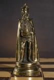Metallic Chess Piece Royalty Free Stock Photos
