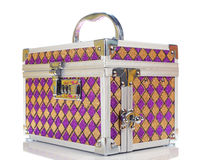 Metallic chest box for jewelry Stock Photo
