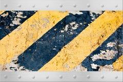 Metallic chevron road sign Royalty Free Stock Image