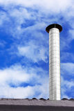Metallic chimney of house Royalty Free Stock Photo