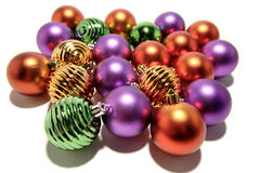 Metallic Christmas balls Stock Photo