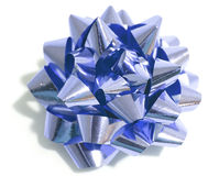 Metallic Christmas bow Stock Images