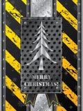Metallic christmas card Royalty Free Stock Images