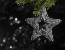 Metallic Christmas deco star Stock Image