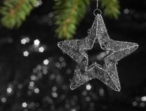 Metallic Christmas deco star Stock Photos