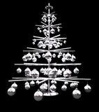 Metallic Christmas tree Royalty Free Stock Photos