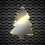Metallic Christmas tree Royalty Free Stock Image