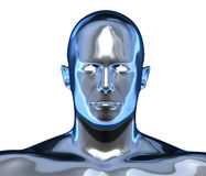 Metallic chrome face Royalty Free Stock Photos