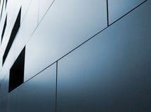 Metallic cladding. On modern industrial building Royalty Free Stock Photo