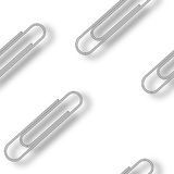 Metallic clips pattern Stock Image