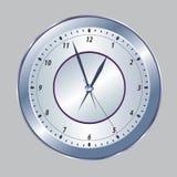 Metallic clock Royalty Free Stock Photography