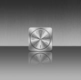 Metallic Clock Icon Stock Photography