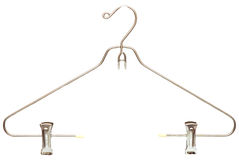 Metallic clothes hanger Stock Image
