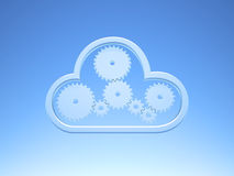 Metallic Cloud Computing Icon on blue Sky Royalty Free Stock Photo