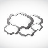Metallic clouds concept Stock Photography