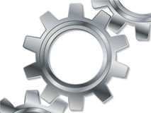 Metallic cogwheel Stock Images