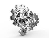 Metallic cogwheels Royalty Free Stock Image