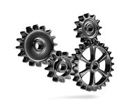 Metallic Cogwheels Stock Photos