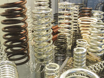 Metallic coils on display Stock Image