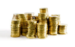 Metallic coins Royalty Free Stock Photo