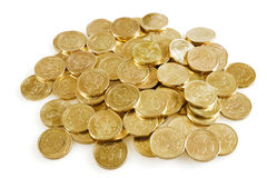 Metallic coins Stock Photography