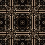 Metallic color regular seamless pattern. Metal foil with pattern. Gold and black Stock Images