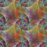 Metallic colorful seamless fractal background Stock Photos